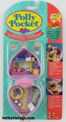 Polly Pocket 1993 MIP Kozy Kitties Front Package