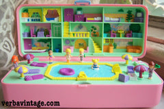 Polly Pocket 1989 MIP Pool Party Playset Open Compact Variant