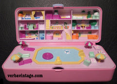 Polly Pocket 1989 MIP Pool Party Playset Open Compact