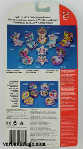 Polly Pocket 1993 MIP Precious Puppies Back Package