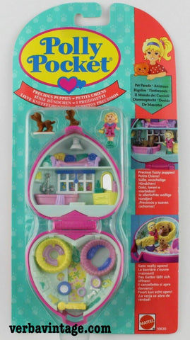 Polly Pocket 1993 MIP Precious Puppies Front Package