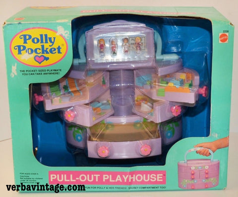 Polly Pocket 1991 MIP Pull-out Playhouse Front Package