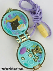 Polly Pocket 1993 MIP Seashine Mermaid Locket Open Locket