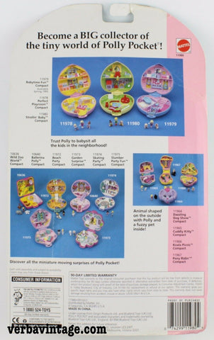 Polly Pocket 1994 MIP Strolling Baby Back Package