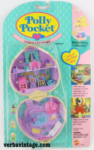 Polly Pocket 1994 MIP Strolling Baby Front Package