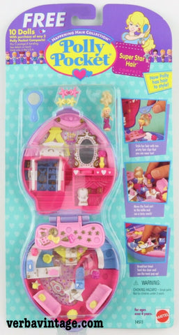 Polly Pocket 1995 MIP Super Star Hair Front Package
