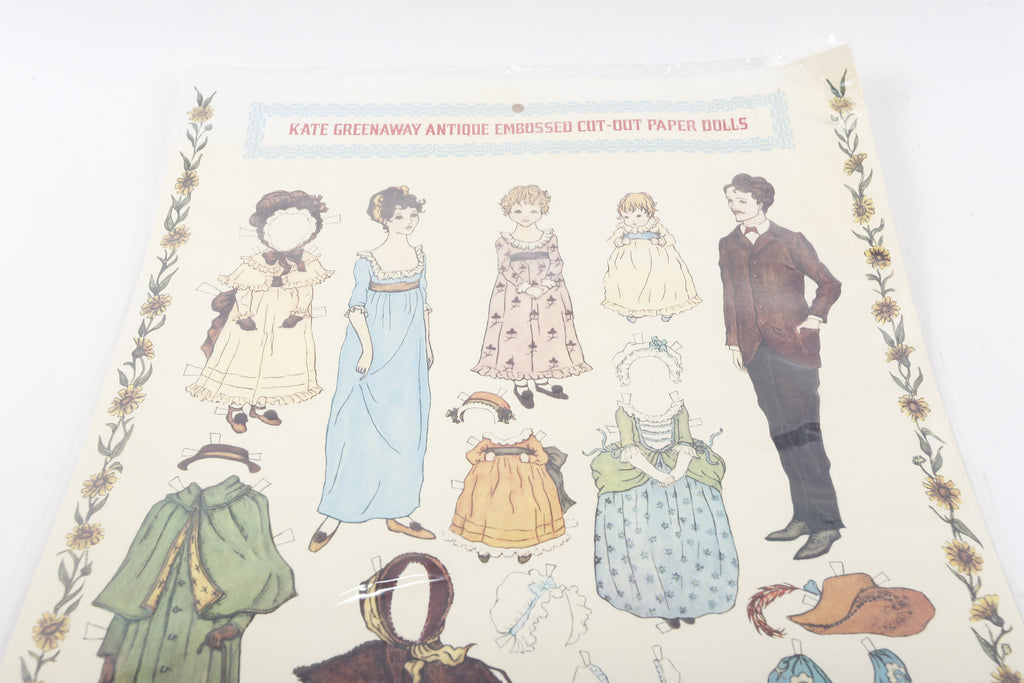 Victorian, Repro, Antique, Replica, Kate Greenaway, Paper Dolls, Sheet,  Children, Collection, Vintage, Nostalgia ~ 161123A