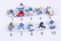 PICK YOUR OWN #2 Vintage 80s Smurfs pvc Figures Toy Lot Cake Toppers Schleich Peyo 1980s Lot Toy Figure Lot  Toy Lot