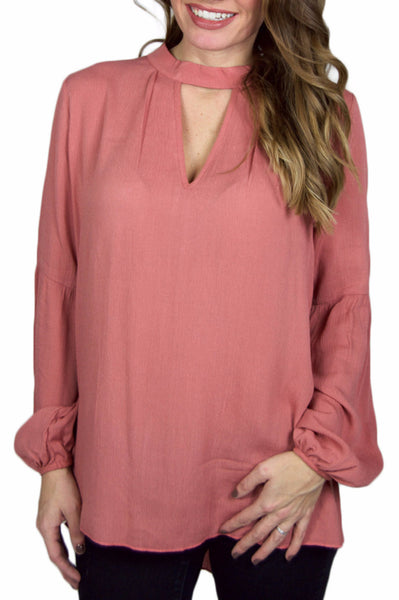 LOCK AND KEY BLOUSE - BLUSH