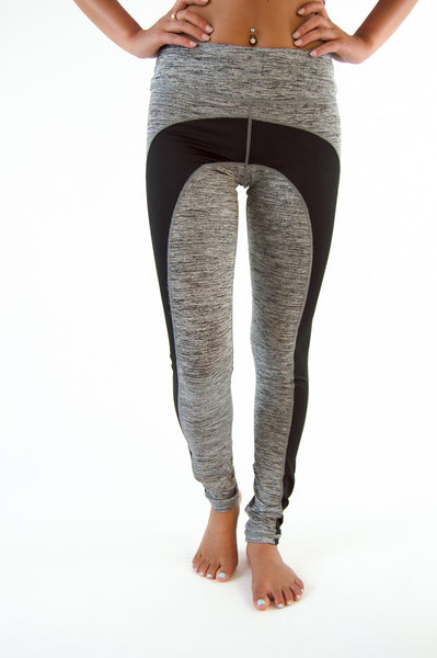 WORK IT OUT ACTIVE LEGGINGS - CHARCOAL/BLACK