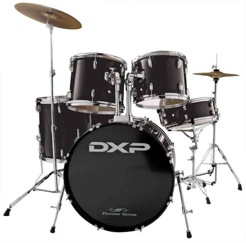 DXP Pioneer 5pc Drum Kit Package Black