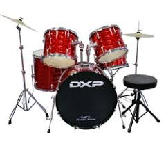 DXP Pioneer 5pc Drum Kit Laser Red