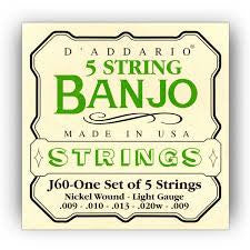 D Addario J60 Banjo Strings Light