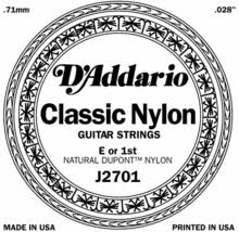 D Addario Nylon Single  J2701