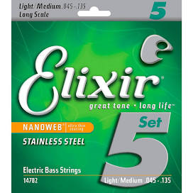 Elixir Bass Strings 45-130