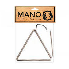 "Mano 7"" Triangle w/ Beater"