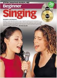Progressive Beginner Singing Book w/dvd