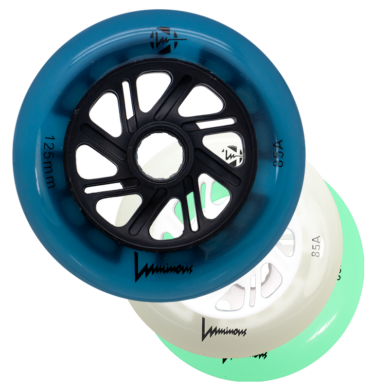 LUMINOUS - LED INLINE WHEELS - 125mm/85A x1