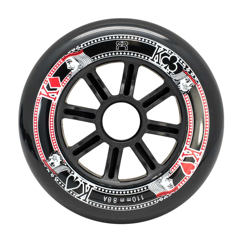 FR - STREET KINGS WHEELS 110MM/88A BLACK X1