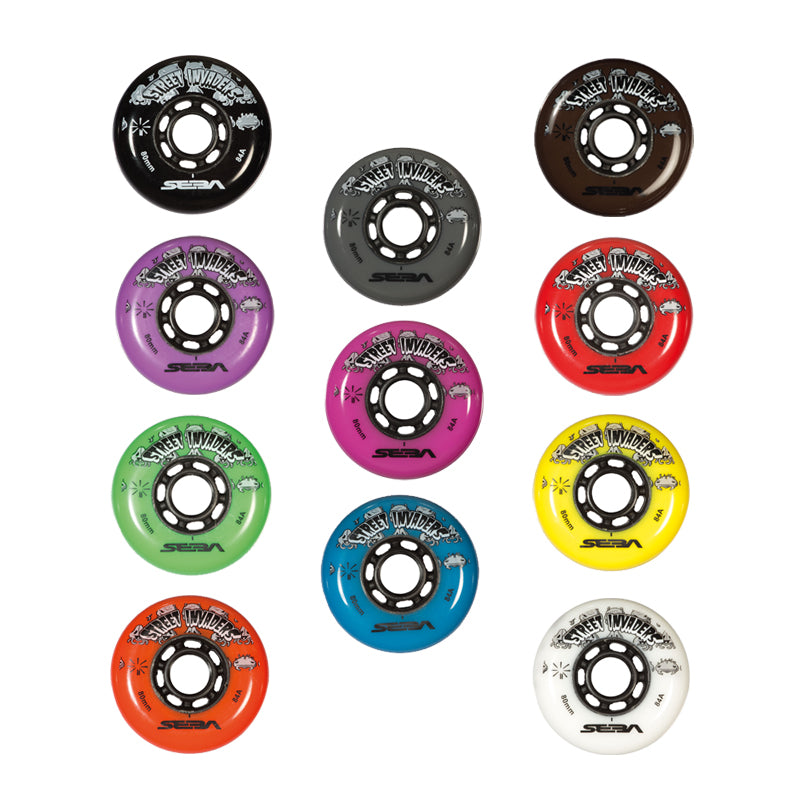 SEBA - STREET INVADER WHEELS 72mm /84A X1