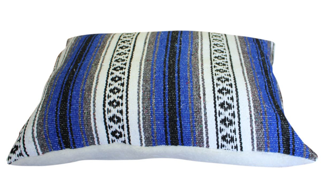 Classic Baja Blanket Dog Bed-Blue