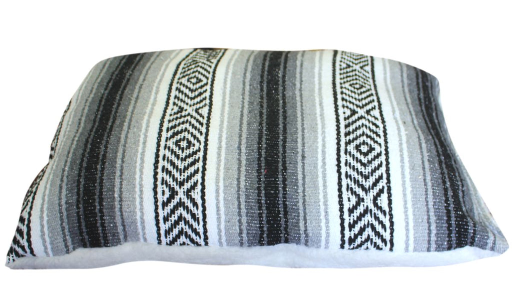 Classic Baja Blanket Dog Bed-Gray