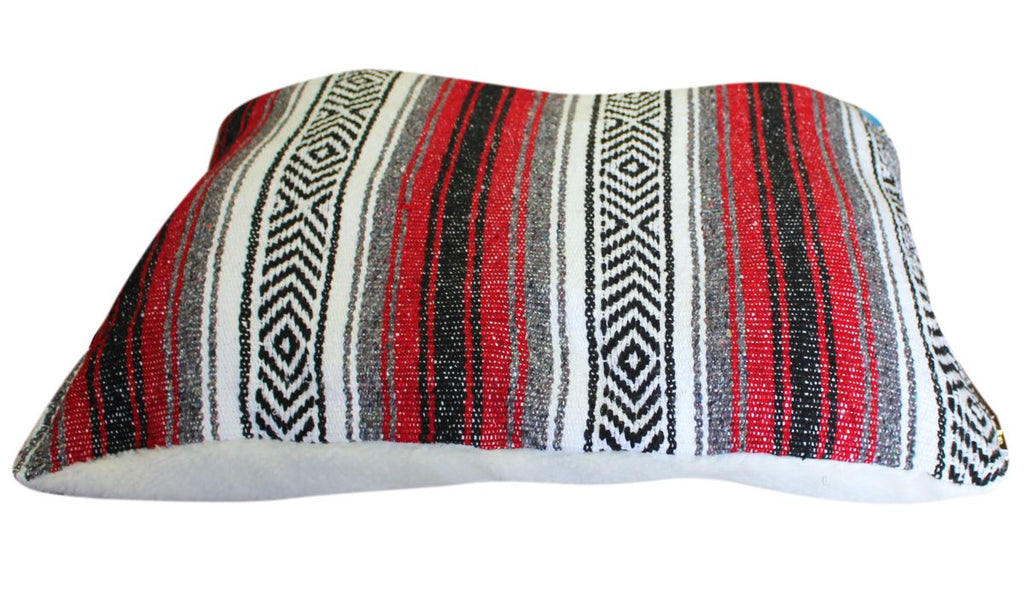 Classic Baja Blanket Dog Bed-Red