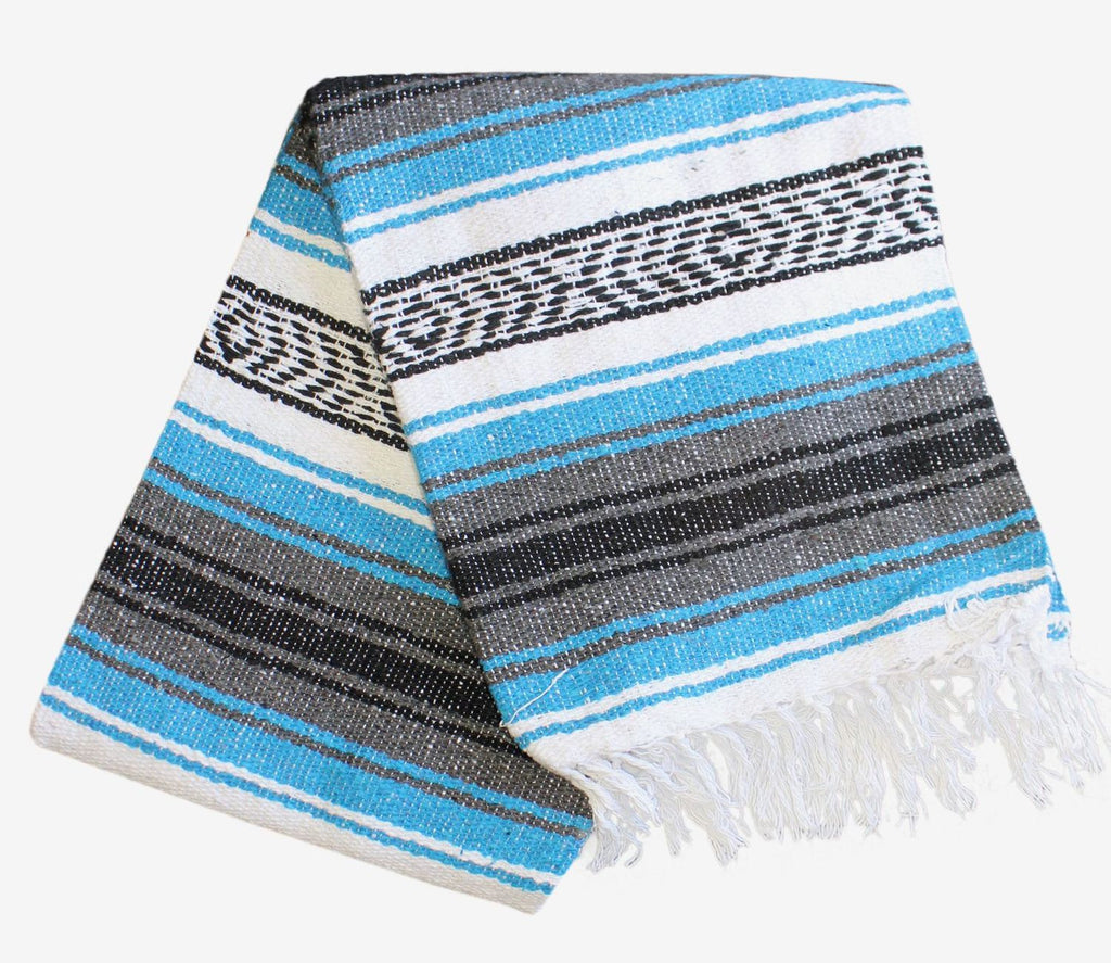 Classic Mexican Blanket: Turquosie - Del Mex - 1