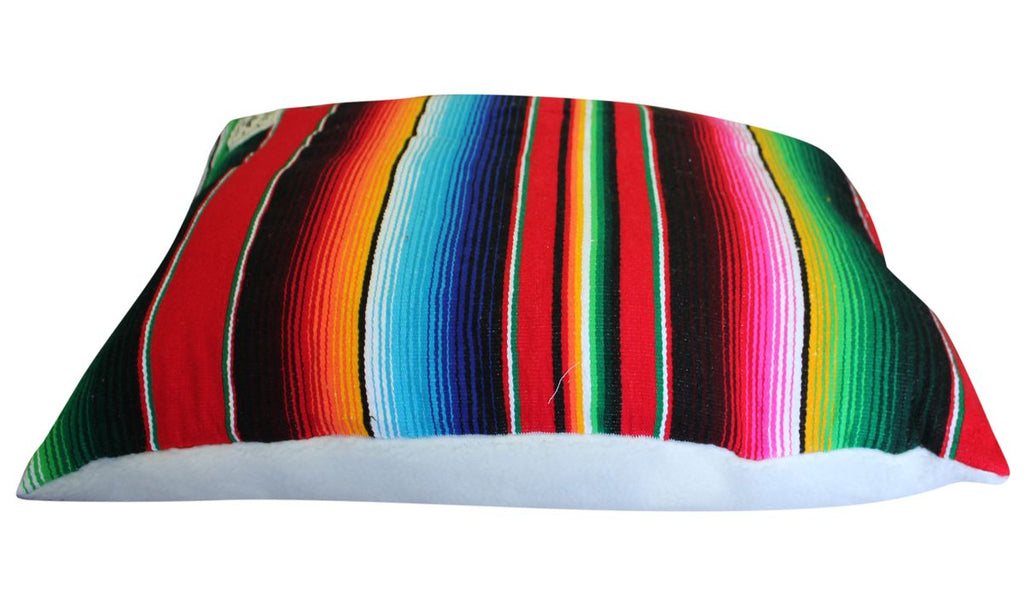 Serape Dog Bed-Red