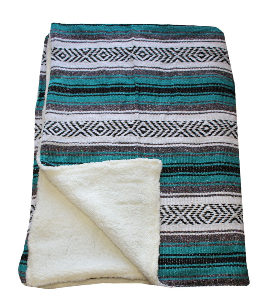 Full size Baja Blanket with Sherpa Backing