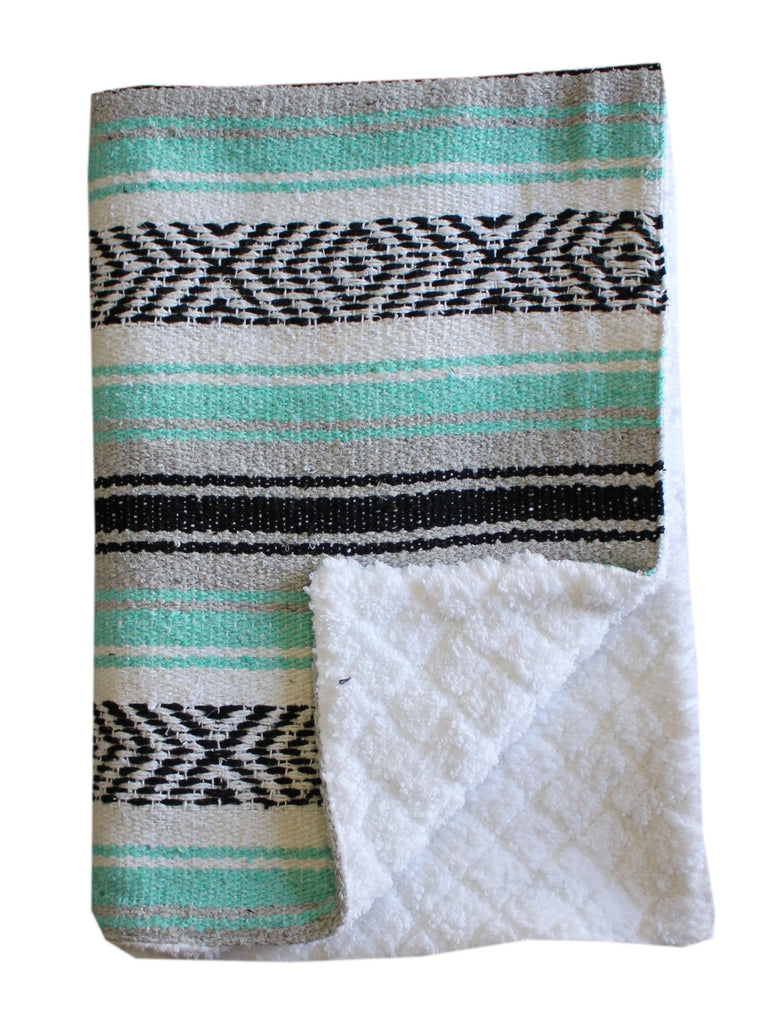 Baja Baby™ Mexican Baby Blanket -Sea Foam Dream - Del Mex - 1