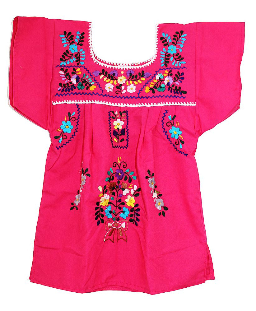 Embroidered Youth Dress: Pink - Del Mex - 2