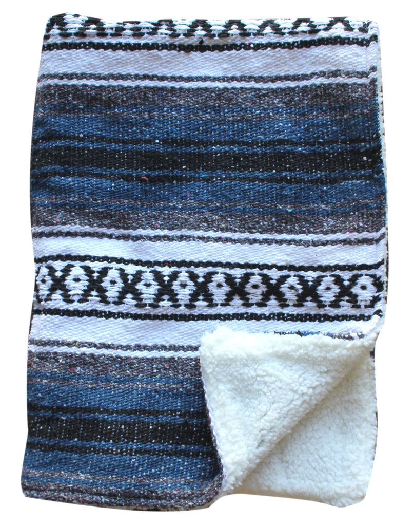 Baja Baby™ Mexican Baby Blanket - Navy Blue