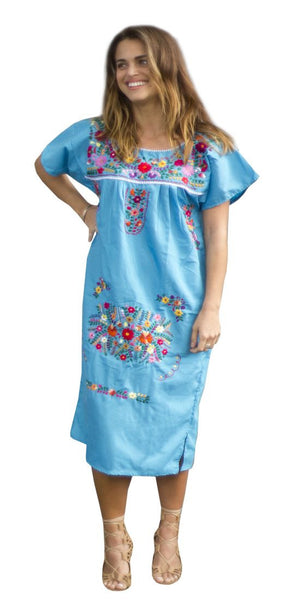 Dress-Turquoise - Del Mex - 1