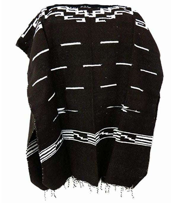 Clint Eastwood Spaghetti Western Cowboy Poncho Costume Sweater: Black
