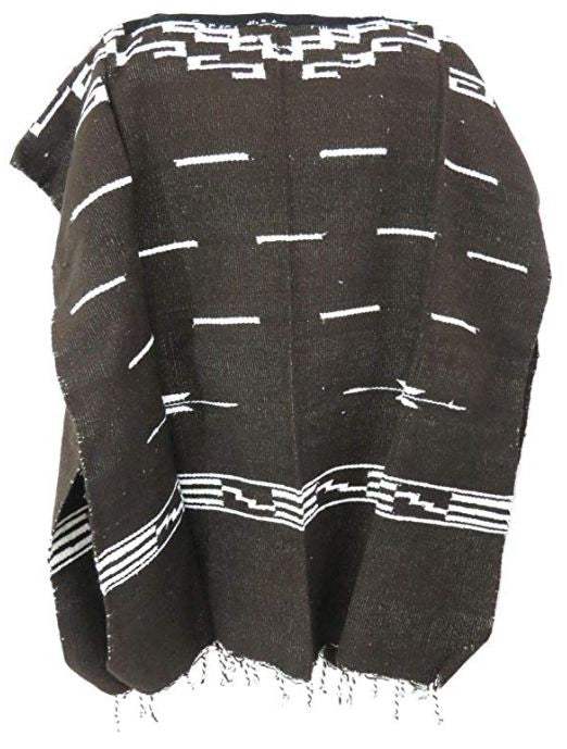 Clint Eastwood Spaghetti Western Cowboy Poncho Costume Sweater: Dark Brown