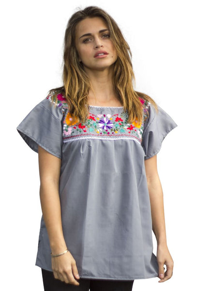 Blouse- Grey - Del Mex - 1