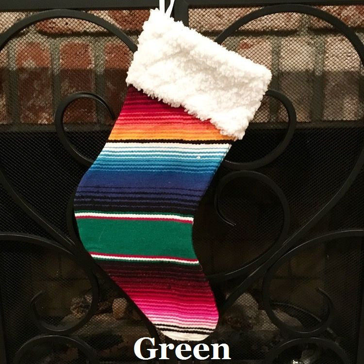 Serape Christmas Stocking - Del Mex - 2