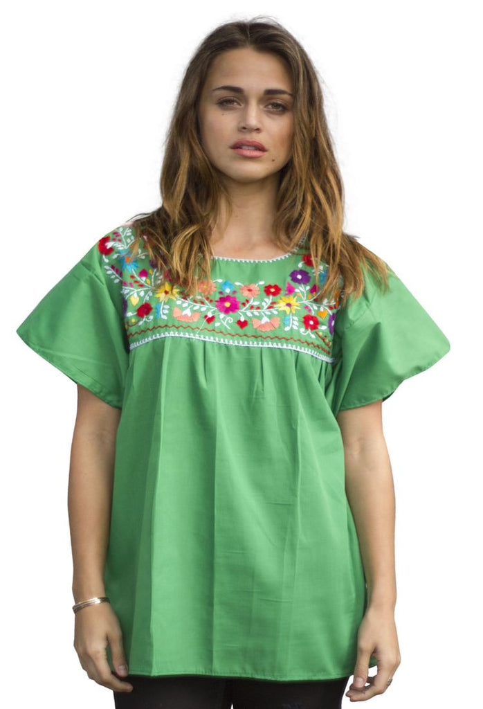 Blouse- Green - Del Mex - 1
