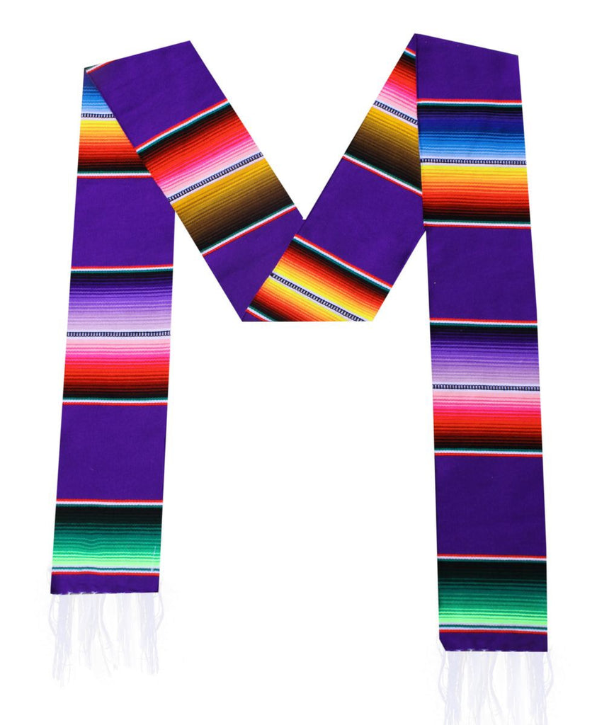 Serape Graduation Sash Stole- PURPLE