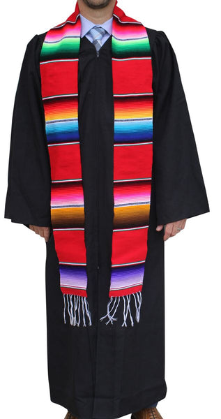 Serape Graduation Sash Stole- RED