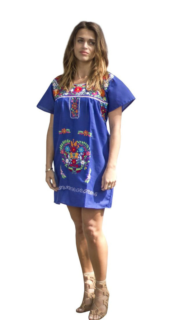 Mini Dress- Blue - Del Mex - 1