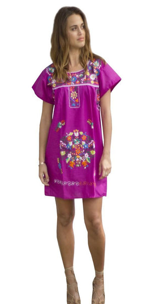 Mini Dress- Electric Purple - Del Mex - 1