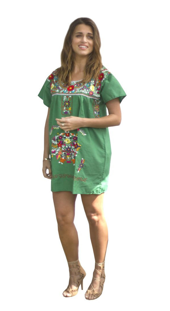 Mini Dress- Green - Del Mex - 1