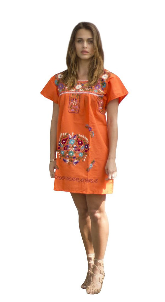 Mini Dress- Orange - Del Mex - 1