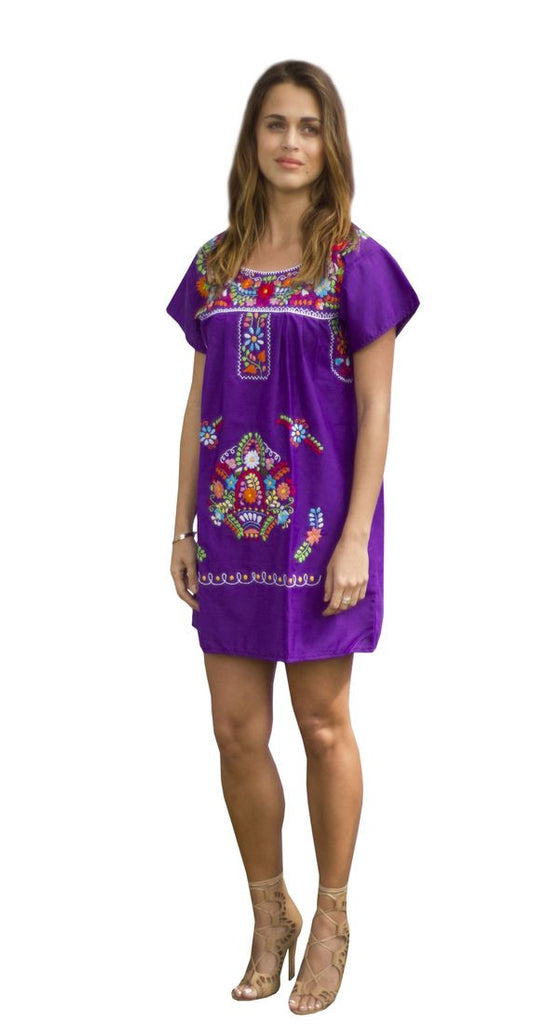 Mini Dress- Purple - Del Mex - 1