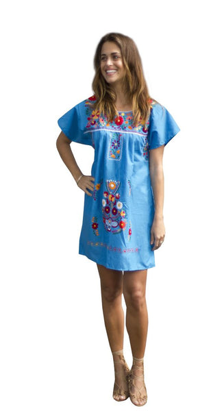 Mini Dress- Turquoise - Del Mex - 1