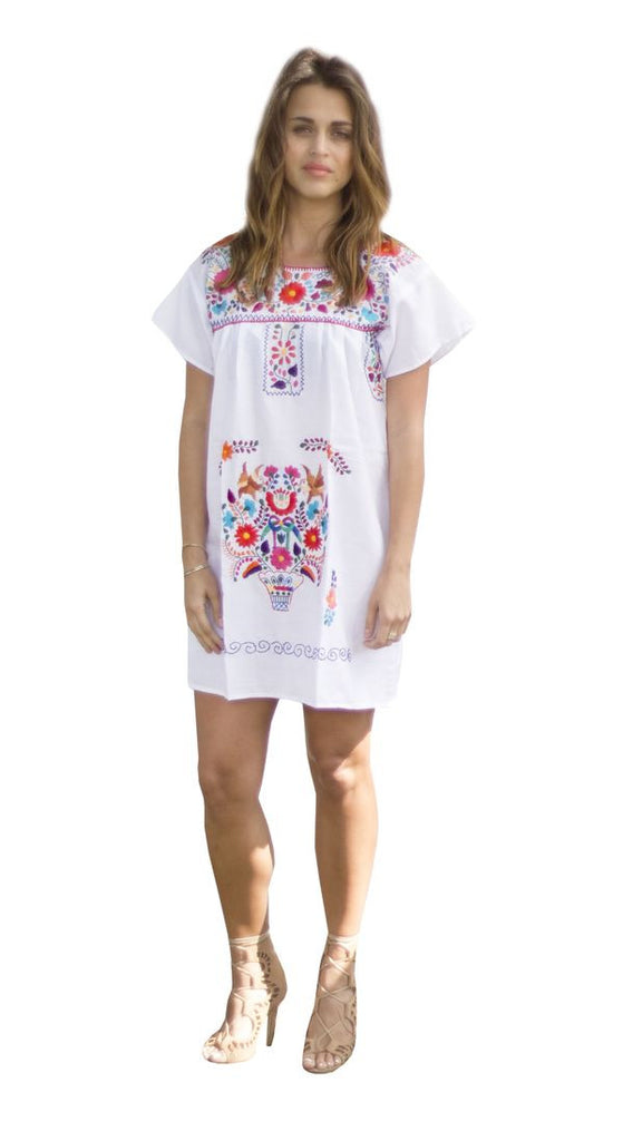 Mini Dress- White - Del Mex - 1