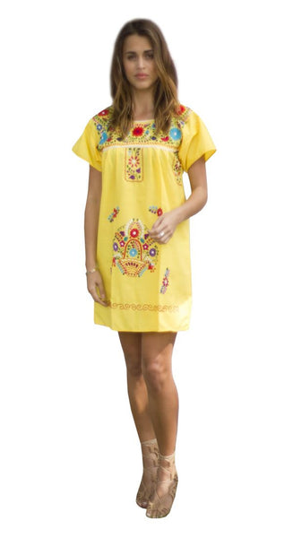 Mini Dress- Yellow - Del Mex - 1