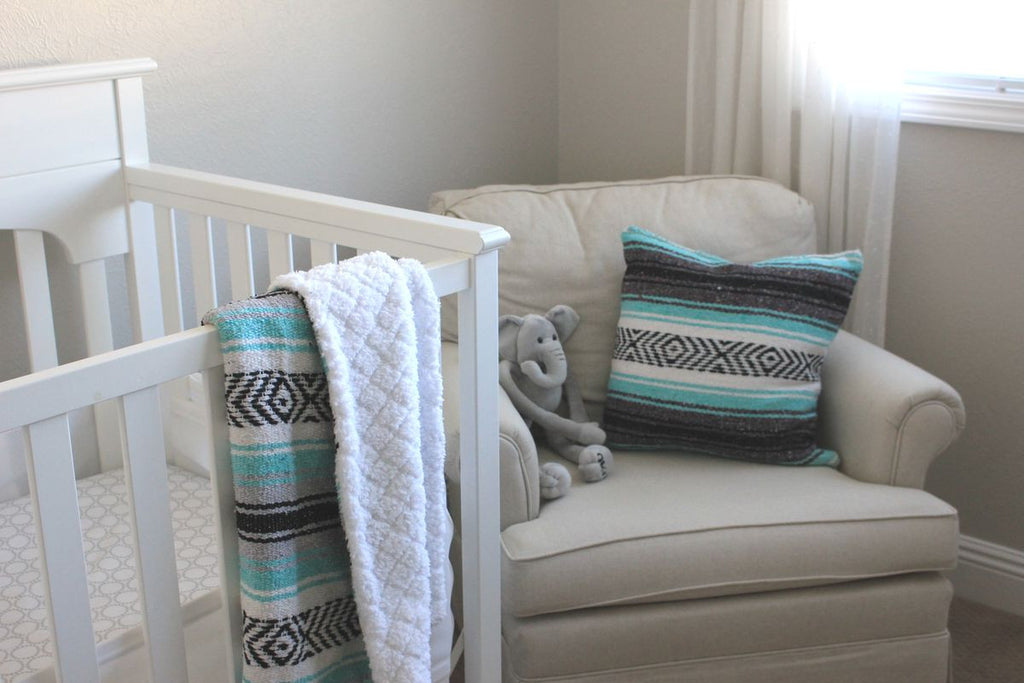 Baja Baby™ Mexican Baby Blanket -Sea Foam Dream - Del Mex - 2